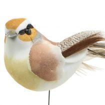 Pájaros en alambre naturaleza 9cm 12pcs
