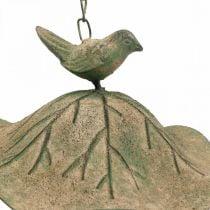 Baño de pájaros colgante de metal baño de pájaros jardín aspecto antiguo Al.28cm