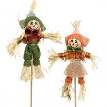 Espantapájaros para decorar en el palo decoración de otoño 24pcs