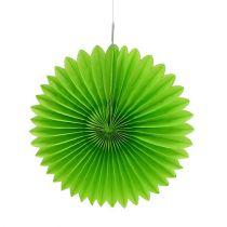Panal Papel Flor Verde Ø20cm 3pcs