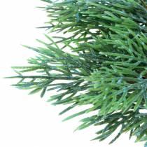 Rama decorativa de enebro con conos verde, azul lavado 25cm 2ud