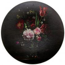 Plato de pared con estampado floral Ø33cm