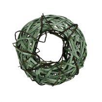 Corona de mimbre pequeña verde Ø28cm