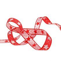Cinta de navidad con estrellas rojas 15mm 20m