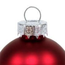 Bola de Navidad Ø4cm Rojo Brillo / Mate 24pcs