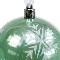 Bola de Navidad Ø8cm de plástico verde claro 1pc