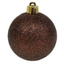 Bola de Navidad Chocolate Brown Mix Ø6cm 10pcs