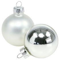 Bola de Navidad vidrio Ø6cm plata mezcla 24pcs