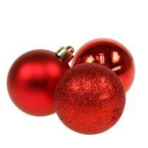 Bola de navidad plástico rojo 6cm 10pcs