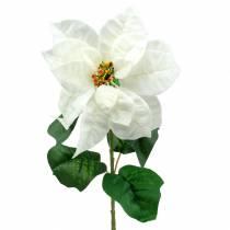 Flor de Pascua flor artificial blanca 67cm