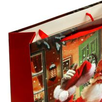 Bolsa de regalo con Santa Claus 24cm x 18cm x 8cm