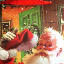 Bolsa navideña con Santa 32cm x26cm x10cm
