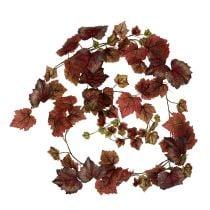 Guirnalda de hojas de parra rojo oscuro 190cm