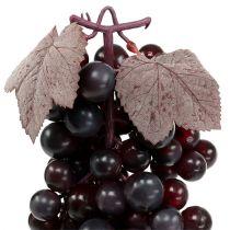 Racimo de uvas rojo oscuro 44cm artificial