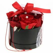 Caja de flores corazón rosa Ø18 / 20cm, juego de 2