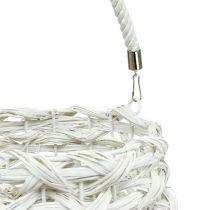 Linterna Cesta Ø18cm H43cm Blanco