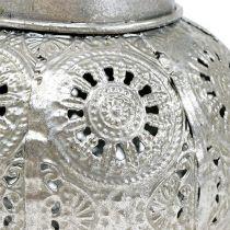 Farol colgante plata Ø12,5cm H10cm