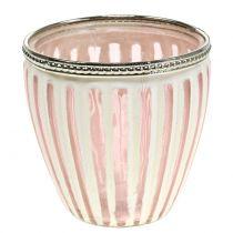 Luz de viento rosa antiguo Ø10cm H10cm