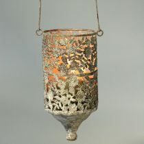 Hilo colgante ligero metal antiguo Ø10cm H21cm 2pcs