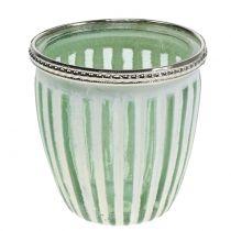 Viento ligero verde antiguo Ø8,5cm H9cm