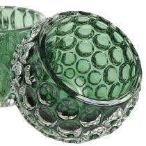 Cristal Windlight Verde Oscuro Ø8cm H6cm 2pcs