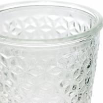 Lámpara de cristal con base transparente Ø10cm H18.5cm decoración de mesa