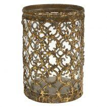 Farol dorado antiguo Ø8cm H11.5cm 1p