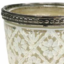 vela en vaso plata del pobre floral Ø7,5cm H7,5cm 2pcs