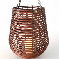 Vela en canasta, farol con asa, decoración de velas, farol de canasta Ø24cm H34cm
