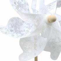 Molino de viento blanco Ø30cm