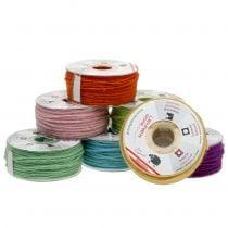 Cordón de lana coloreado 3mm 100m