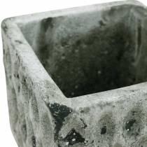 Maceta, recipiente de cerámica, decoración de mesa, óptica antigua Al8cm 4 piezas