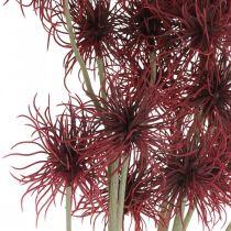 Xanthium flor artificial decoración de otoño rojo 6 flores 80cm 3 piezas