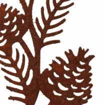 Tapón de jardín rama de cono acero inoxidable metal H40 cm 4ud