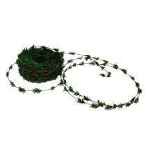 Guirnalda de cedro mini verde con cable 27m