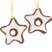 Decoraciones para árboles de navidad canela estrellas decoración estrella plástico 5cm 24pcs