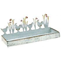 Bandeja de cinc Prado de primavera con grifos 30cm