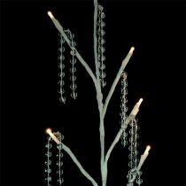 Rama blanca con collar de perlas LED 75cm juego de 2