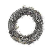 Corona de ramas Ø30cm blanco