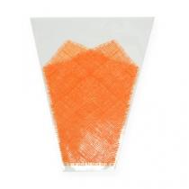 Bolsa de flores yute patrón naranja L40cm B12-30 50pcs