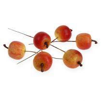 Manzana artificial 3cm en alambre 24pcs
