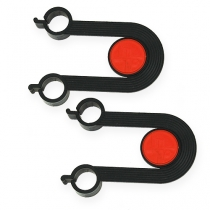 Soporte de repuesto para dispensador de cinta rizadora 1 par