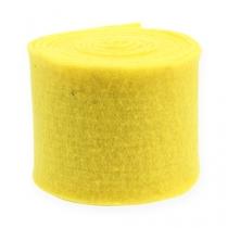 Cinta de fieltro amarilla 15cm 5m