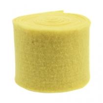 Cinta de fieltro amarillo claro 15cm 5m