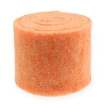 Cinta de fieltro Naranja 15cm 5m