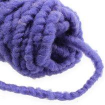 Felt cord fleece Mirabell 25m violeta