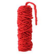Cordón de fieltro Velcro Mirabell 25m rojo