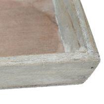 Bandeja de madera gris 57cm x 17cm