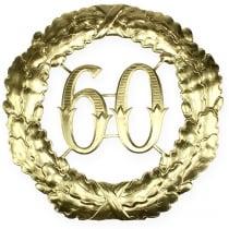 Aniversario número 60 en oro Ø40cm.