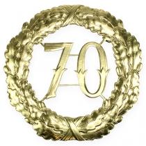 Aniversario número 70 en oro Ø40cm.